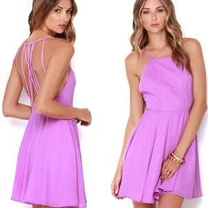 Lulu's strappy together orchid purple dress